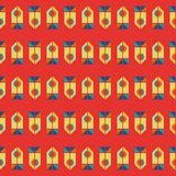 геометрическая картина ретро Стоковое Изображение
