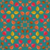 Геометрическая картина с листьями осени Стоковые Изображения RF