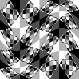 Геометрическая картина с пульсацией, волнистым искажением, влиянием искривления гнойничка Стоковая Фотография