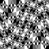 Геометрическая картина с пульсацией, волнистым искажением, влиянием искривления гнойничка Стоковое фото RF