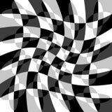 Геометрическая картина с пульсацией, волнистым искажением, влиянием искривления гнойничка Стоковая Фотография RF