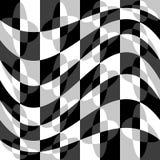 Геометрическая картина с пульсацией, волнистым искажением, влиянием искривления гнойничка Стоковые Фото