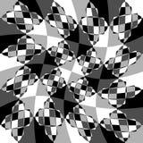 Геометрическая картина с пульсацией, волнистым искажением, влиянием искривления гнойничка Стоковые Фотографии RF
