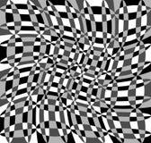 Геометрическая картина с пульсацией, волнистым искажением, влиянием искривления гнойничка Стоковые Изображения
