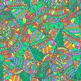 Геометрическая картина с яркими цветами лета Этническое племенное boho иллюстрация вектора