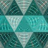 Геометрическая картина треугольников с кругами и пульсациями Крышка, современная бесплатная иллюстрация