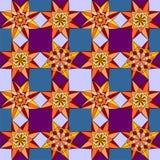 Геометрическая картина цветков Стоковая Фотография