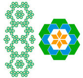 геометрическая картина Стоковое Изображение RF
