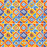 геометрическая картина ikat мозаики внутри бесплатная иллюстрация