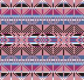 Геометрическая картина knitwear тартана, предпосылка рождества зимы, карточка Схема для вышивки крестиком и вязания крючком Стоковая Фотография RF