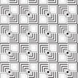 Геометрическая квадратная безшовная картина Стоковые Изображения