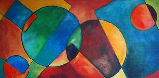 Геометрическая конструктивная абстракция стоковое фото