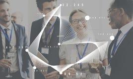 Геометрическая концепция математики символов знака формы Стоковые Изображения RF