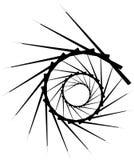 Геометрическая круговая спираль Абстрактная угловая, нервная форма в rotat Стоковые Изображения