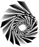 Геометрическая круговая спираль Абстрактная угловая, нервная форма в rotat Стоковое Фото
