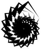 Геометрическая круговая спираль Абстрактная угловая, нервная форма в rotat Стоковая Фотография RF