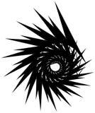 Геометрическая круговая спираль Абстрактная угловая, нервная форма в rotat Стоковое Изображение RF