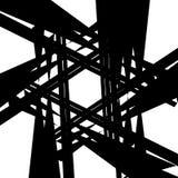 Геометрическая нервная грубая картина белизна абстрактного искусства черная иллюстрация вектора