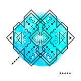 Геометрическая печать битника Футуристическая линия дизайн Стоковое Изображение