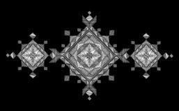 Геометрическая печать моды вышивки Орнамент белой снежинки зимы праздничный родной Neckline одевает год сбора винограда украшения иллюстрация вектора