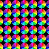 Геометрическая предпосылка дизайна текстуры картин цвета круга иллюстрация Стоковое фото RF