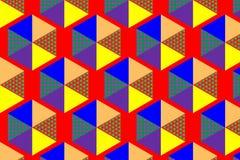 Геометрическая предпосылка дизайна текстуры картин цвета шестиугольника иллюстрация Стоковая Фотография