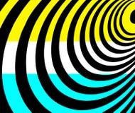 Геометрическая предпосылка форм в бирюзе, белизне, черноте и желтом цвете Стоковая Фотография