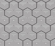 Геометрическая предпосылка, безшовная картина, линия дизайн Стоковое фото RF