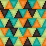 Геометрическая предпосылка в винтажных цветах безшовное картины ретро Стоковые Изображения RF