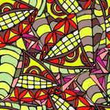 Геометрическая предпосылка картин нарисованных рукой Стоковые Фото