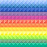 Геометрическая предпосылка, радуга Стоковое фото RF