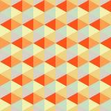 Геометрическая предпосылка, ретро треугольники, безшовная картина Стоковое Изображение