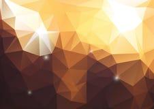 Геометрическая предпосылка - сияющие желтые цветы бесплатная иллюстрация