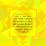 Геометрическая рамка в желтых цветах Стоковое фото RF
