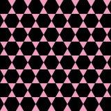 Геометрическая розовая и черная безшовная картина Стоковые Изображения