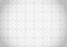 Геометрическая серая безшовная картина Стоковое Фото