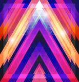 Геометрическая сияющая картина с треугольниками Стоковые Фото