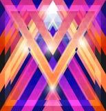 Геометрическая сияющая картина с треугольниками Стоковое фото RF