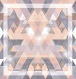 Геометрическая сияющая картина с треугольниками Стоковые Изображения