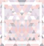 Геометрическая сияющая картина с треугольниками Стоковая Фотография