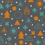 Геометрическая скандинавская безшовная картина абстрактное соплеменное бесплатная иллюстрация