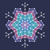 Геометрическая снежинка с линиями и кругами Стоковые Фотографии RF