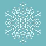 Геометрическая снежинка с линиями и кругами Стоковое Изображение RF