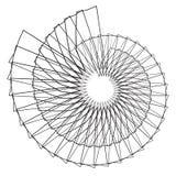 Геометрическая спиральная форма Мотив с круговыми элементами абстрактный g иллюстрация вектора