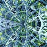 Геометрическая сцена картины стоковое изображение rf