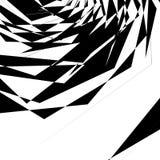 Геометрическая текстура с случайными угловыми формами Monochrome искусство иллюстрация вектора