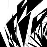 Геометрическая текстура с случайными угловыми формами Monochrome искусство бесплатная иллюстрация
