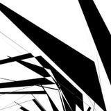 Геометрическая текстура с случайными угловыми формами Monochrome искусство иллюстрация штока