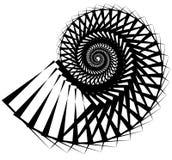 Геометрическая, угловая улитка, винтовая линия, элемент волюты изолированный на whit Стоковое Фото