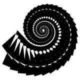 Геометрическая, угловая улитка, винтовая линия, элемент волюты изолированный на whit Стоковое Изображение RF